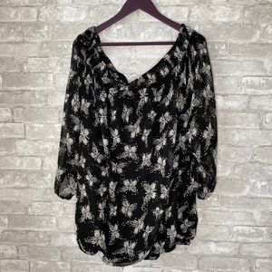 Joe Browns cold shoulder butterfly blouse A2